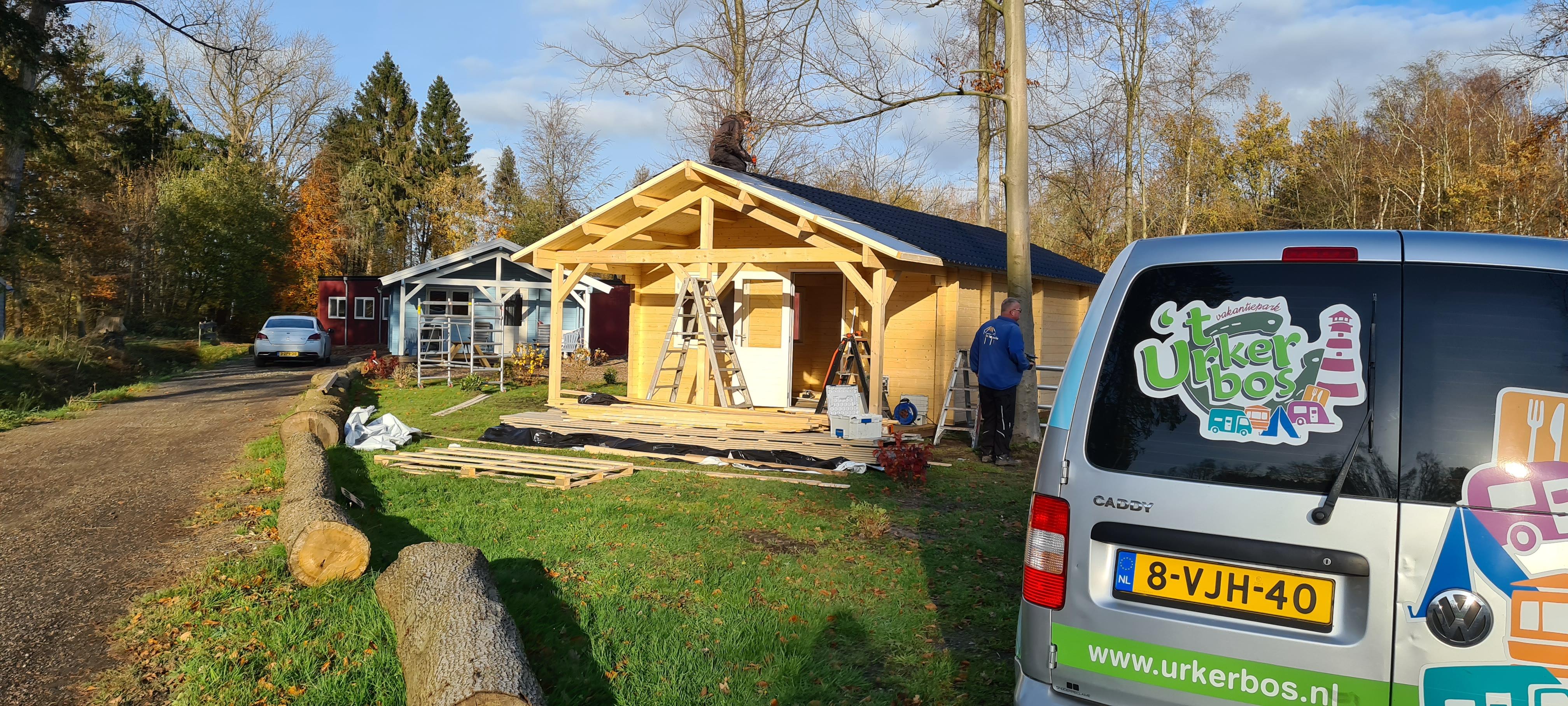 Bouw nieuwe Finse Cottage